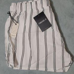 Pinstriped Drawstring PJ Shorts